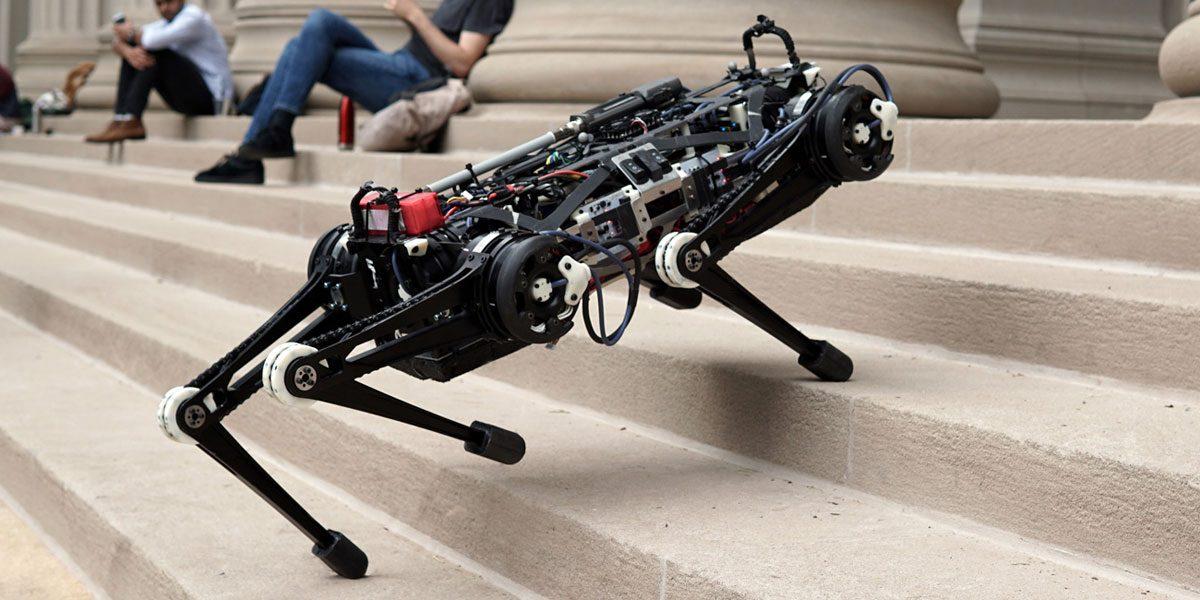 El robot ciego que sube escaleras